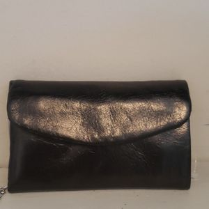 NWT Hobo black leather mini wallet keyper
